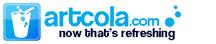 Artcola logo with tagline